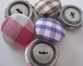 Fabric Covered Buttons - Gingham