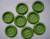 20pcs of four holes button  - 34mm - Green