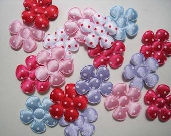 30 pcs of Medium Polka Dot Flower Applique