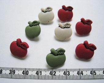 30pcs of shank apple button