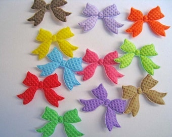 30 pcs of Colorful Bow Applique - Small
