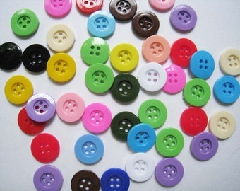 100pcs of 15mm four holes buttons  - Sampler pack
