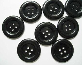 20 pcs of black four holes buttons  - 35mm