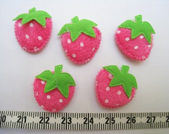 30 pcs of Pink Strawberry  Applique