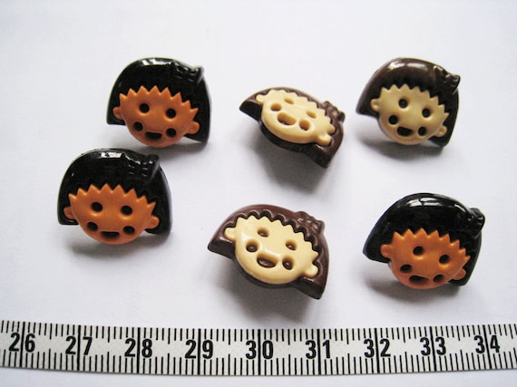 18pcs of Girl  Button - 20mm
