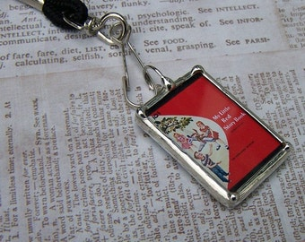 Soldered Art Charm, Teacher Gift, My Little Red Story Book, Dick and Jane series, Key Chain, ID Badge, Lanyard, Pendant