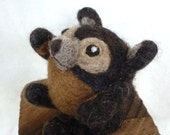 "Needle Felted Bear ""Beorn The Black"""