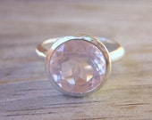 Petal Pink Rock Fetish Ring in Sterling Silver, Made in Your Size