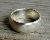 Argentium Sterling Silver Wide Band Ring, Made To Order