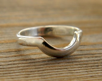 Wrap Band Wedding Band In Argentium Silver