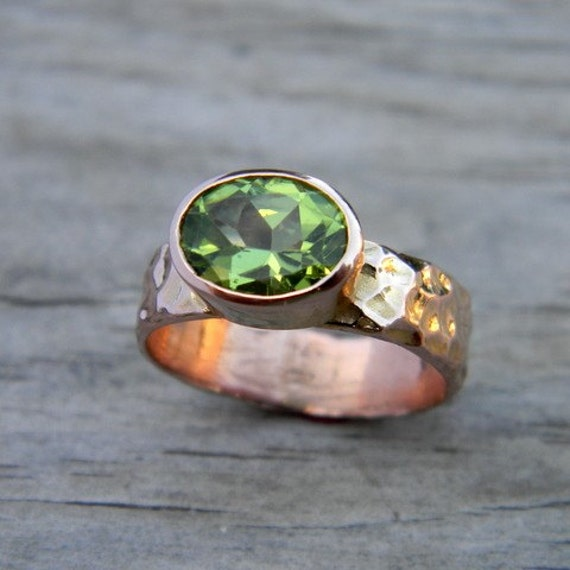 Peridot Ring In Rose Gold Ring In August Birthstone Ring. Modern Rings. Noor Fare Engagement Rings. Mountain Inspired Wedding Wedding Rings. Unorthodox Wedding Rings. Woven Wire Rings. Outdoors Wedding Rings. February Wedding Rings. Non Traditional Mens Wedding Wedding Rings