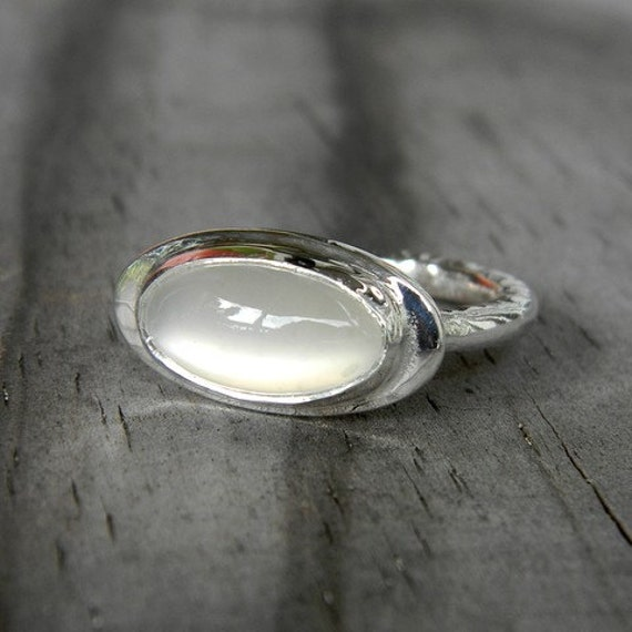 READY To Ship Size 6.5 Regalia Ring in White Moonstone