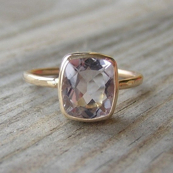 Ballerina Ring, 14k Gold and Morganite , Deposit payment