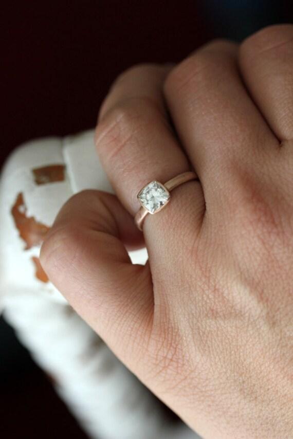 Rose Gold Engagement Ring Forever Brilliant Moissanite