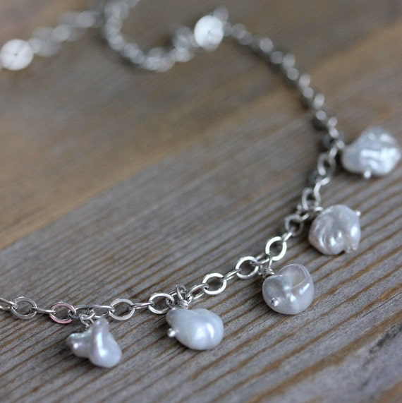 Ready To Ship Freshwater Pearl And Sterling Necklace