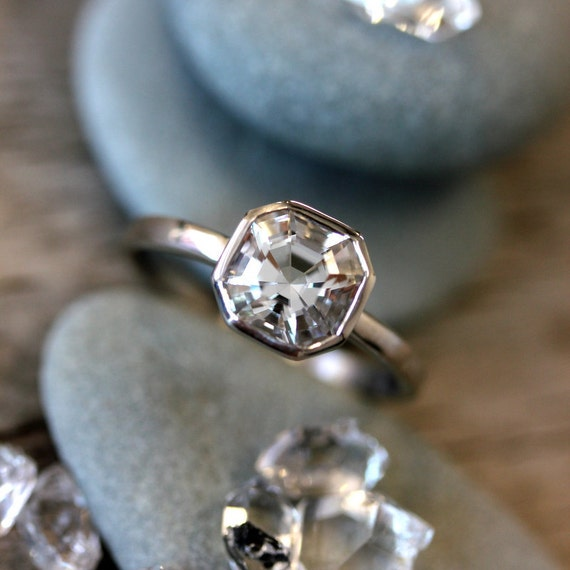 Cut in the usa cruelty free herkimer diamond gemstone ring like this item junglespirit Image collections