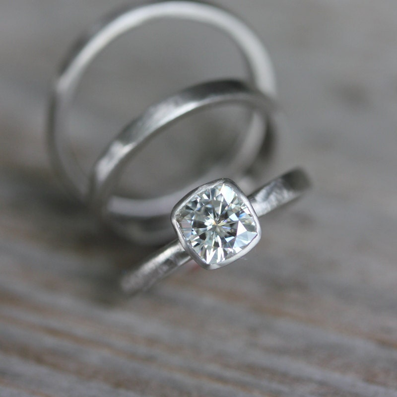 Forever Brilliant Moissanite Engagement Ring White Gold