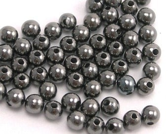 Beads Smooth Round 2mm Gun Metal (100) M010
