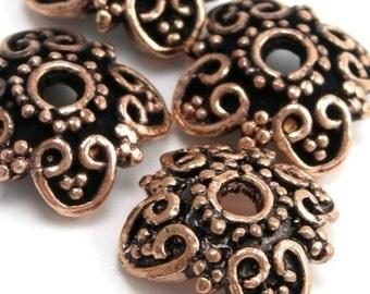 Bead Cap Genuine Copper Bali Style 12mm (2) FI195