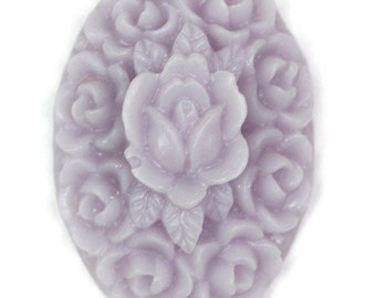 Flower Cluster Cabochon Plastic 21x15mm Oval Lavender (6) PC140 50% OFF CLEARANCE SALE