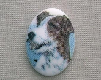 Plastic Dog Cameo 18x13mm Style 6 (1) IC018