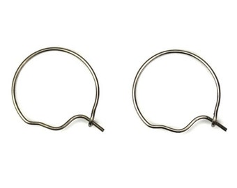 Surgical Stainless Steel Small Hoop Ear Wires (18) FI522