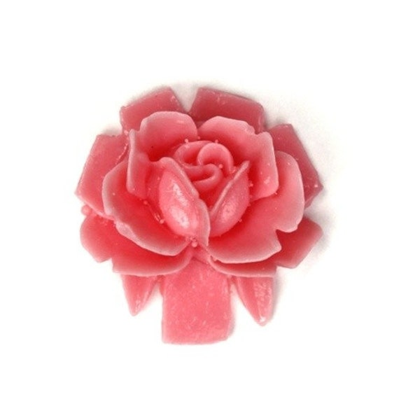 Vintage Style Rose Cabochons 18mm Light Pink (4) PC221