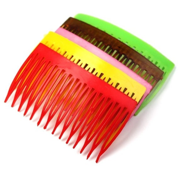 Vintage Plastic Hair Combs on Etsy MKSupplies