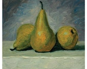Three Pears on a Table