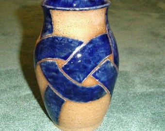 Blue Knot Vase Stoneware