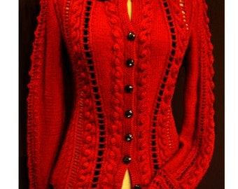 Knitting Pattern-Ruby Cardigan