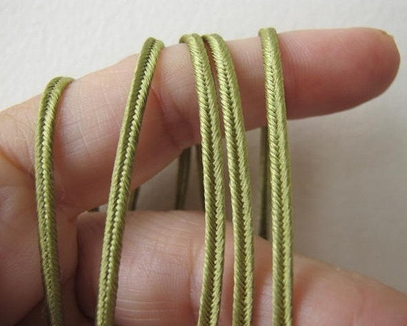 Soutache 12 yards (11 meters) SOUTACHE passementerie braid. SAGE GREEN. 1/8 inch (3mm) wide. 556-582