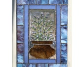 Lavender - Stained/fused glass panel