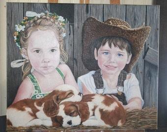 BUDDIES ORIGINAL Oil Painting 24 x 30