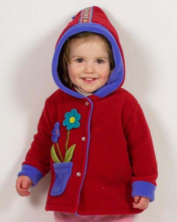 Pocket full of posie jacket in red SALE