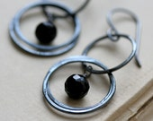 earrings black spinel and sterling silver CIRQUE