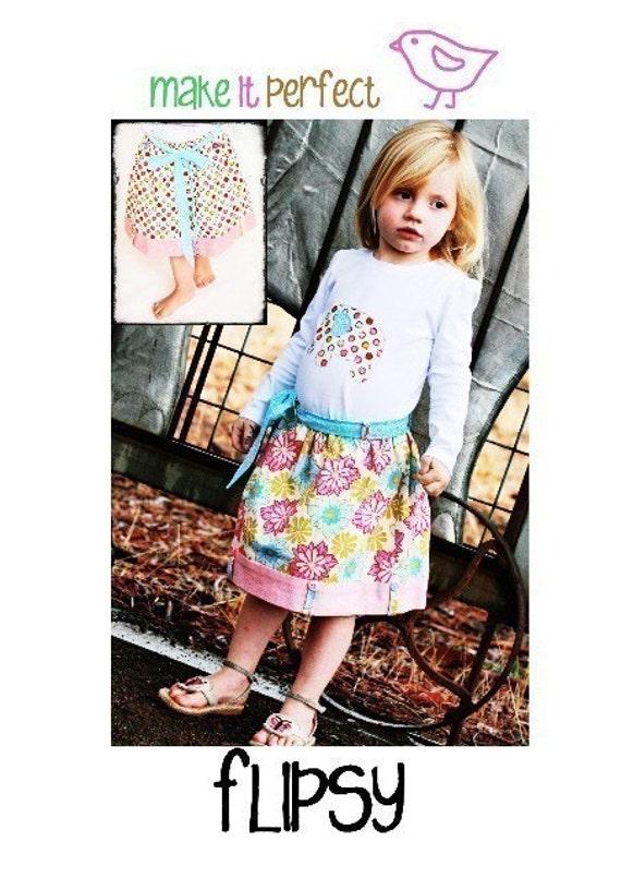 Make It Perfect FLIPSY Sewing Pattern (Reversible Skirt)