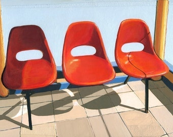 Three Seater - limited edition giclee print 65/100