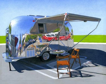 Palm Springs Airstream - limited edition archival print 43/100
