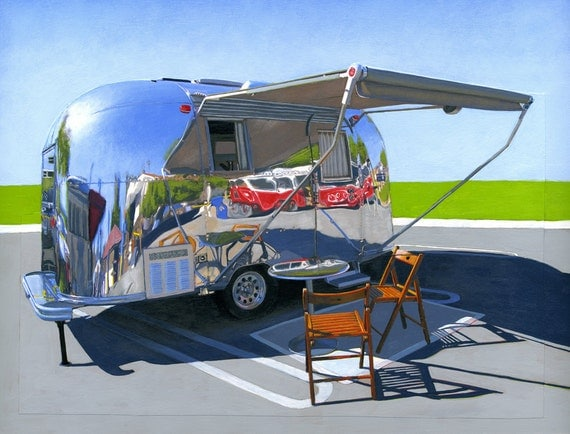 Palm Springs Airstream - limited edition archival print 42/100