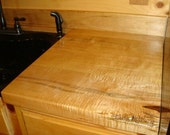 Curly Ambrosia Maple Kitchen Wood Counter Top
