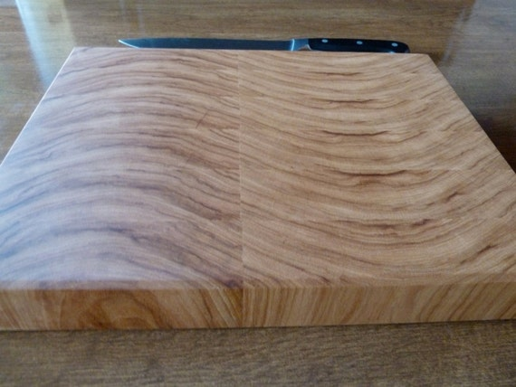 Sine Wave Hickory End Grain Chopping Board