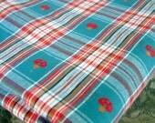 Mushroom Plaid Fabric