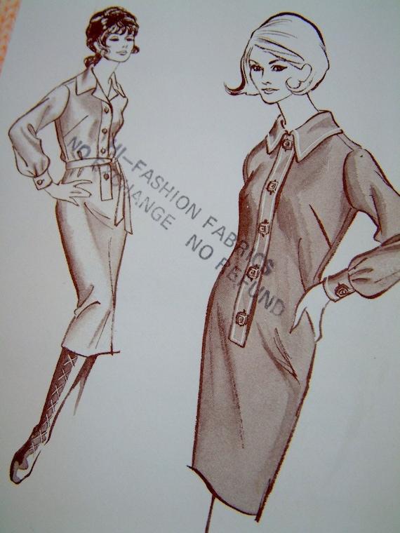 Uncut Ladies Shirt Dress Pattern
