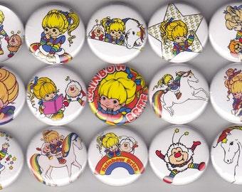 15 Rainbow Brite Buttons