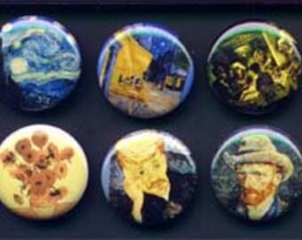 10 Vincent van Gogh Buttons