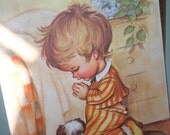 Vintage Boy, Puppy Prayer PLAQUE