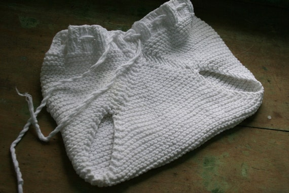 Vintage Knitted DIAPER COVER for Baby