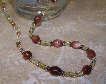 Goldstone Glittering Necklace