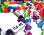 Kandi RAVER Bracelets x10 - Super bright colorful RAINBOW stretch bracelets- Perfect for EDC Raves Concerts